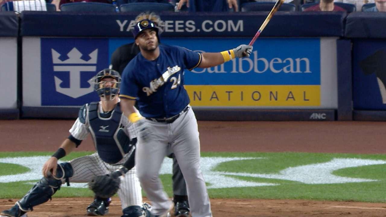 Aguilar remolca 7 en victoria de Cerveceros ante los Yankees