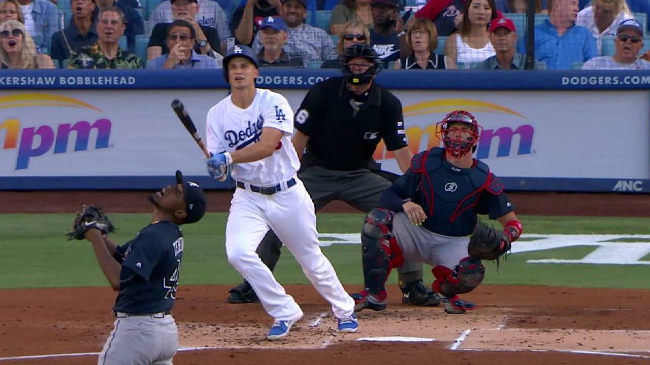 Dodgers tunden a los Bravos a punta de cuadrangulares
