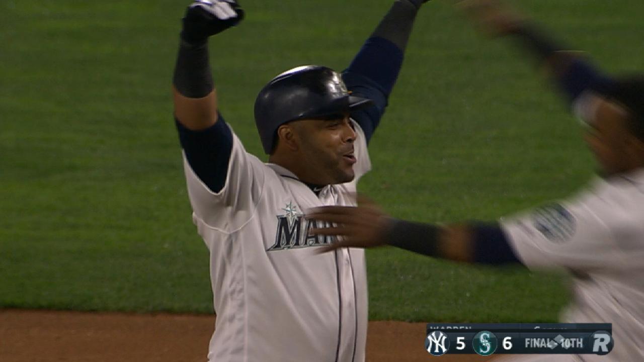 Nelson Cruz le da triunfo a los Marineros ante Yankees en la 10ma