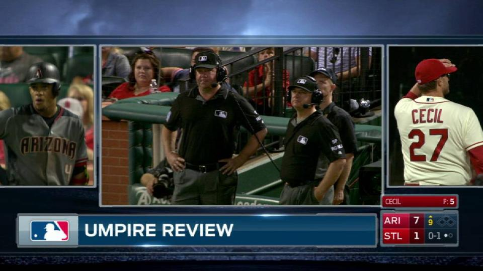 Marte's foul ball gets reviewed