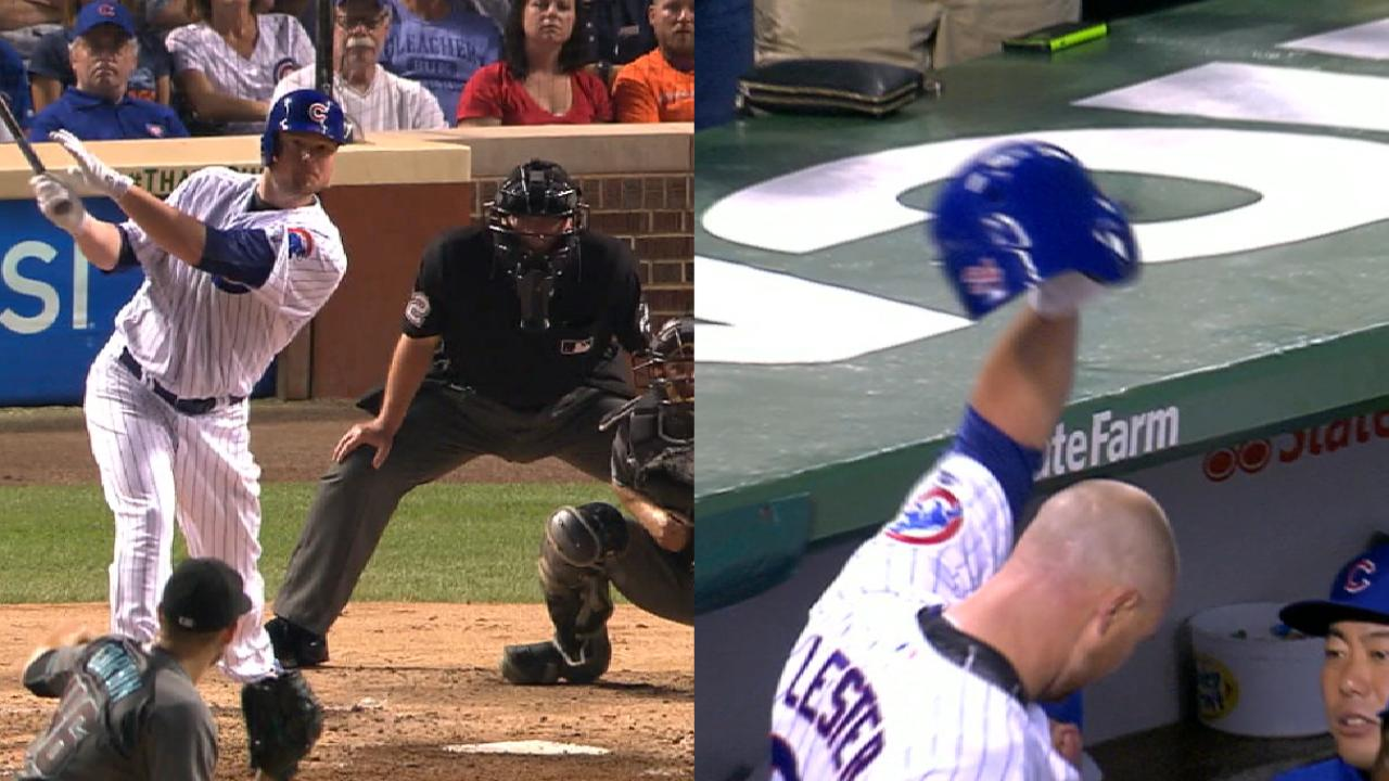Jon Lester Connected On His First Career Home Run And Received A Power  Hitteru0027s Curtain Call