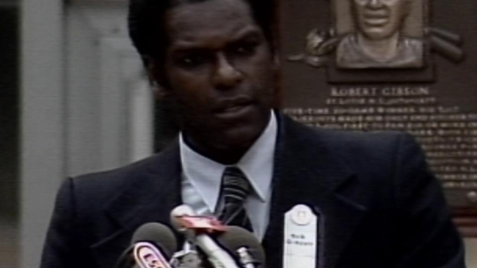 Bob Gibson's Hall of Fame speech