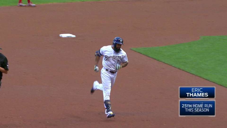 Thames' homer gives Brewers lead