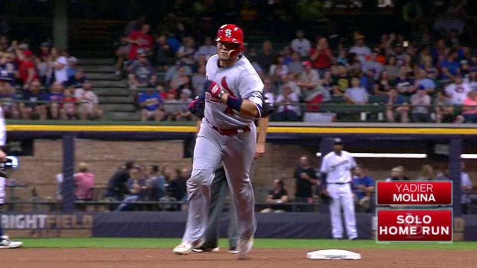 Molina's solo home run to left