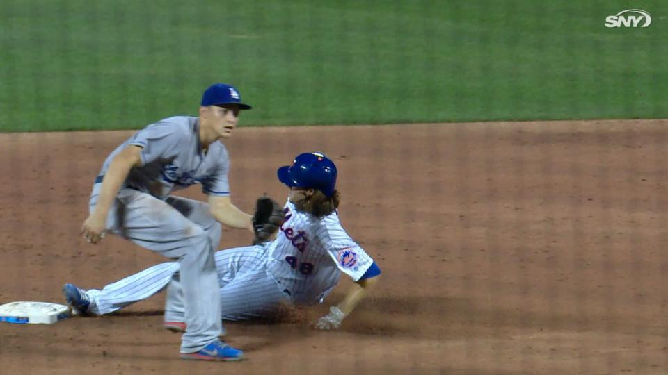 deGrom's first career steal