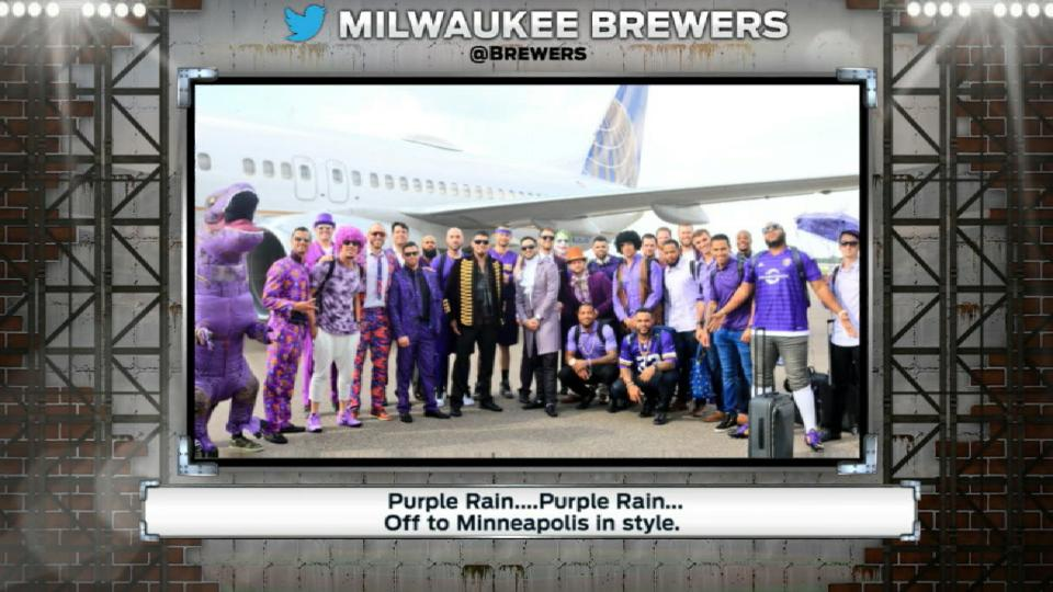 Brewers wear purple for Prince