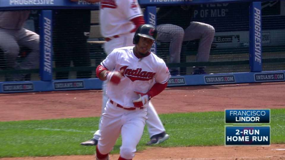 Lindor's two-run home run