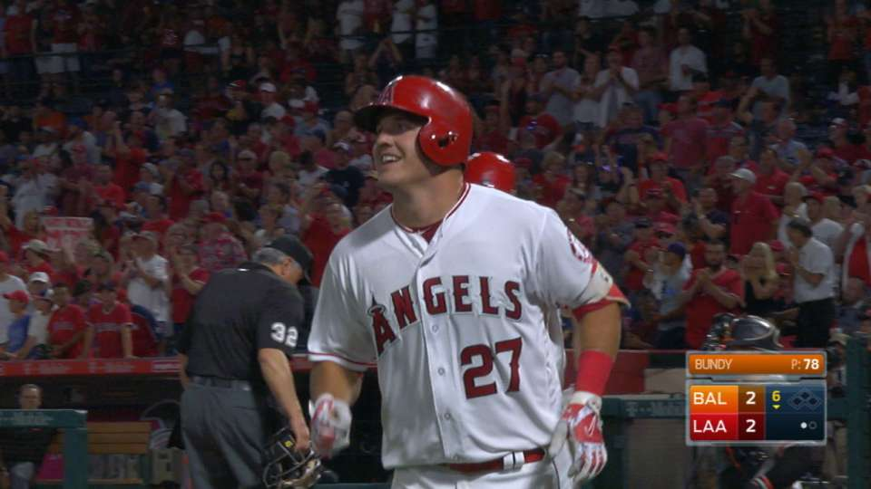 Trout's towering solo shot