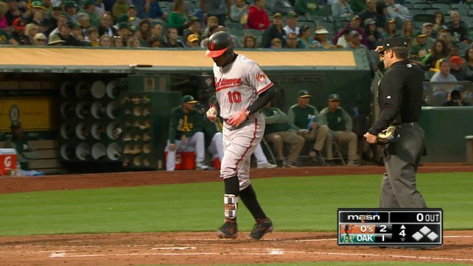 Jones' long solo home run