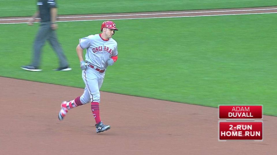 Duvall's two-run homer