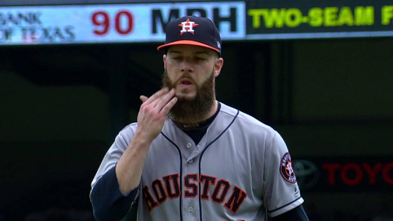 Keuchel escapes jam with big K