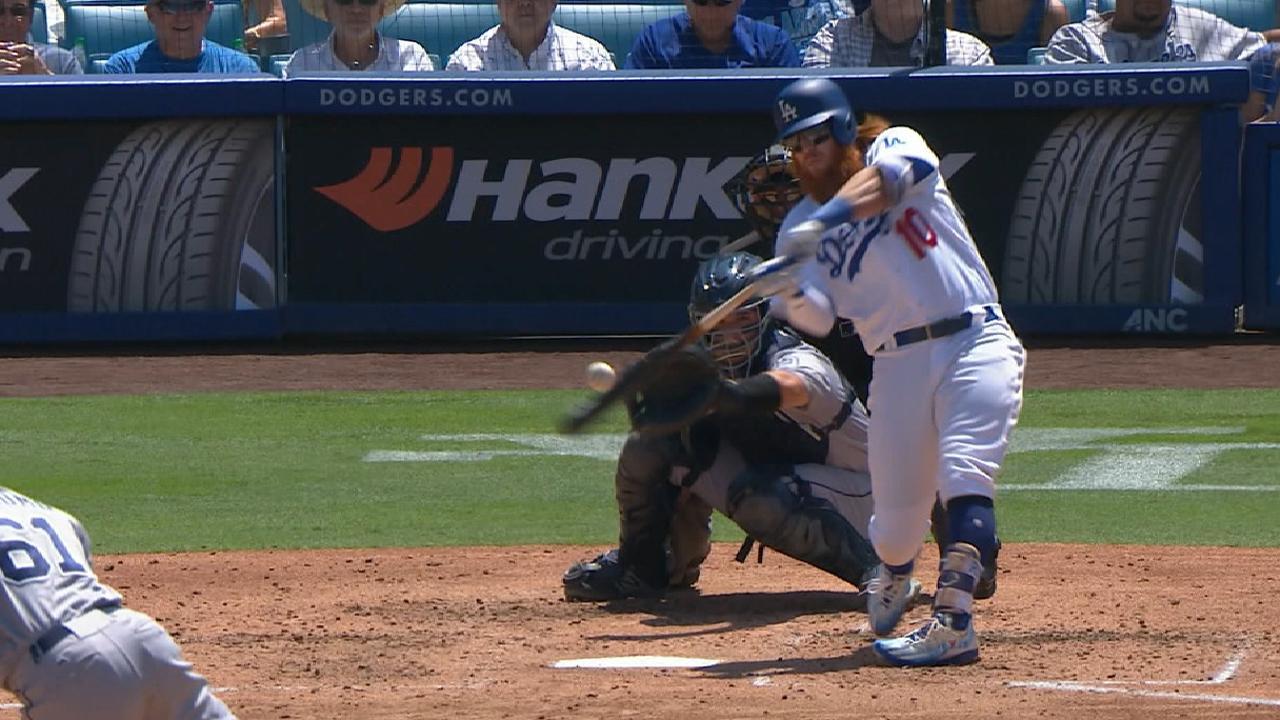 Turner da dos jonrones ante Padres y Dodgers ganan otra serie