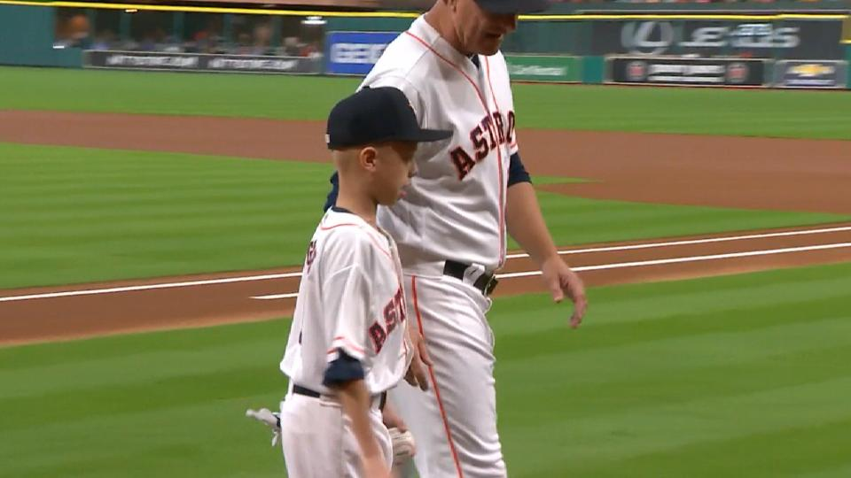 Astros welcome Make-A-Wish child