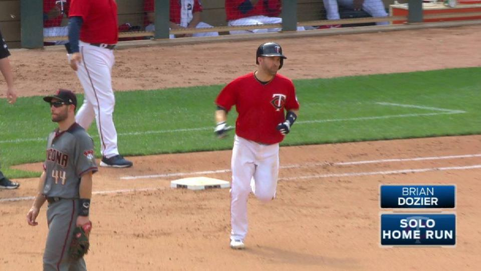 Dozier's solo homer in the 5th