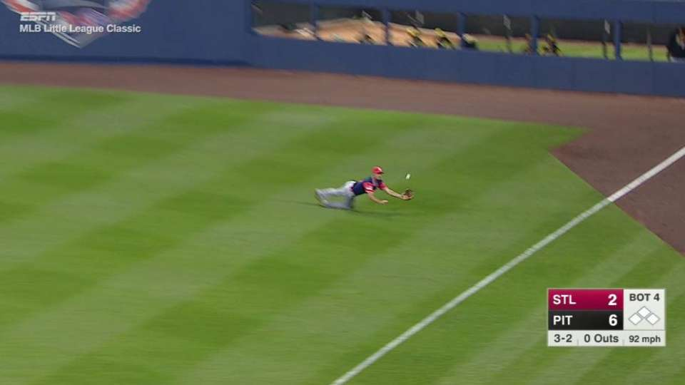 Piscotty's superb diving catch