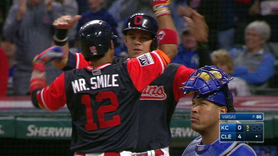 Lindor's two-run homer