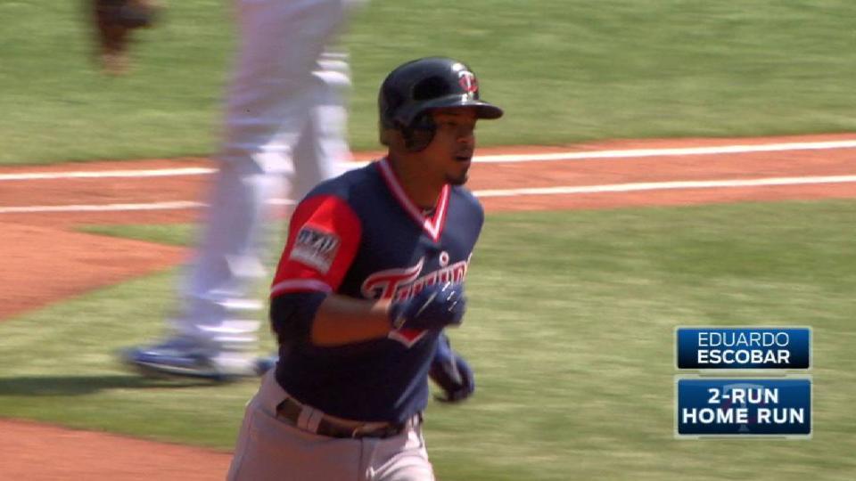 Escobar's two-run homer