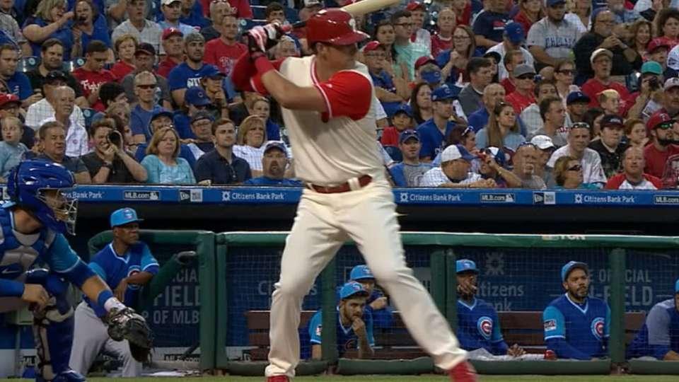 Hoskins' historic 10th homer