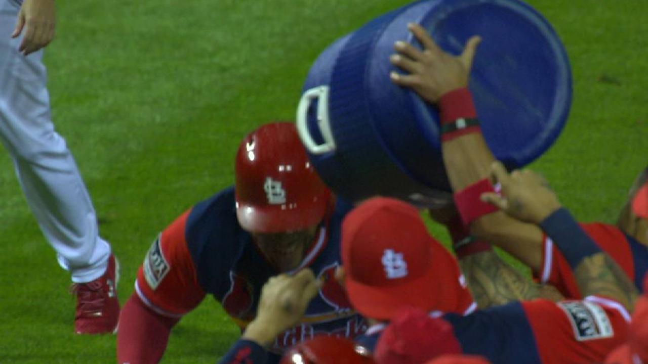 Pham on walk-off two-run homer