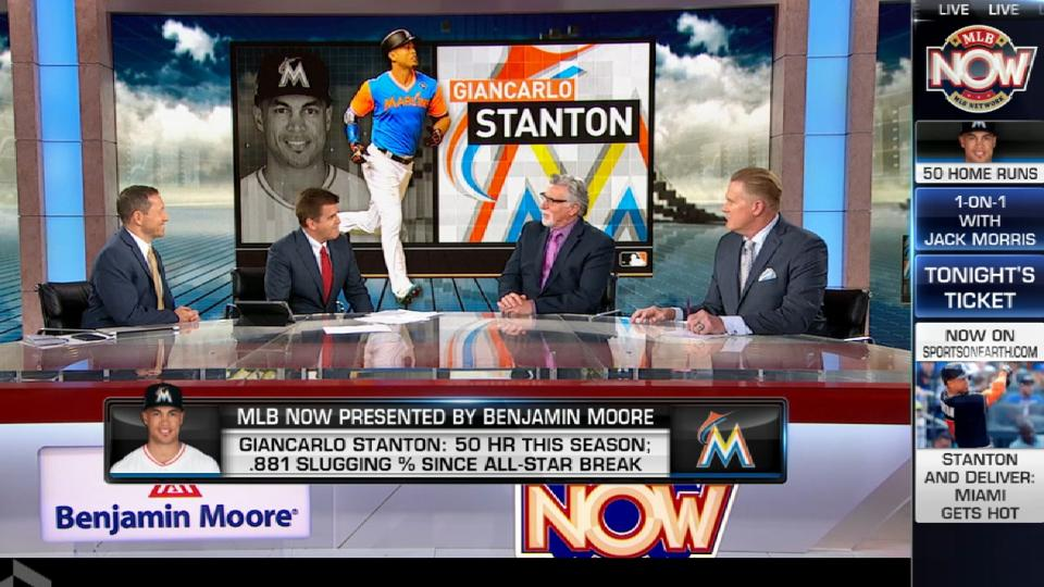 MLB Now on Stanton's 2017 stats