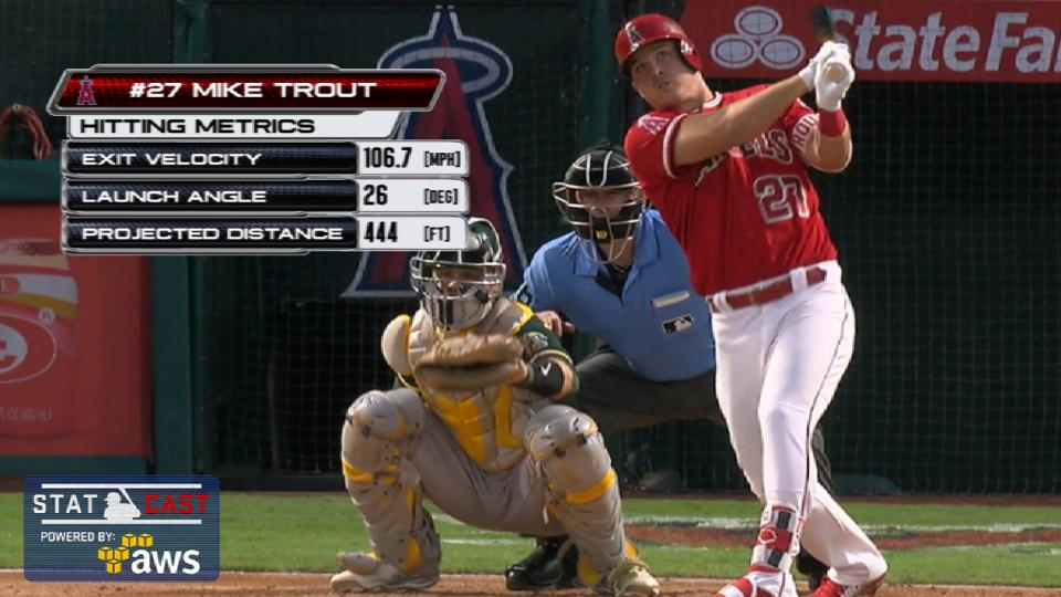 Statcast: Trout's 444-ft. homer