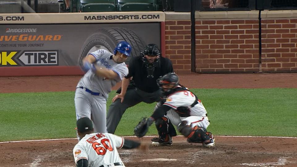 Morales' three-run home run