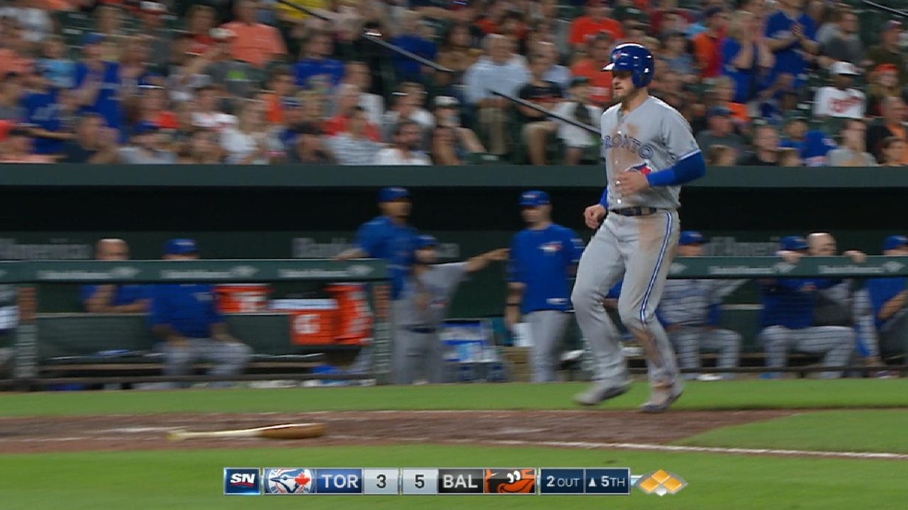 120bf1de4 Blue Jays plate five in the 5th