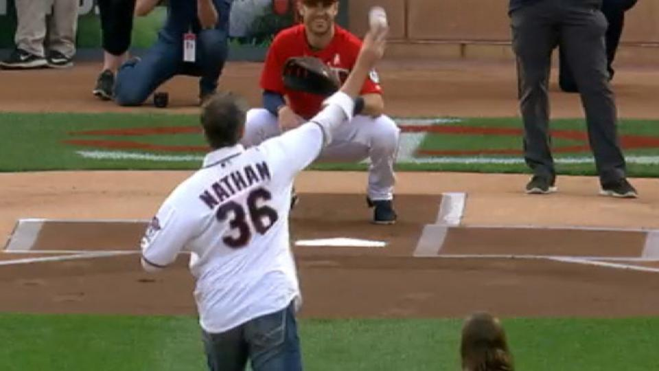 Nathan's first pitch