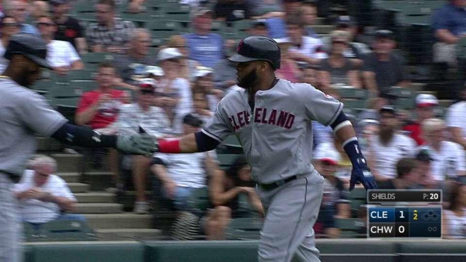 Santana's solo home run