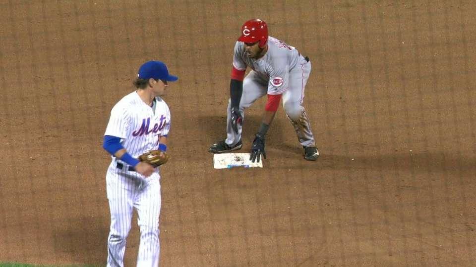 Ervin steals second base