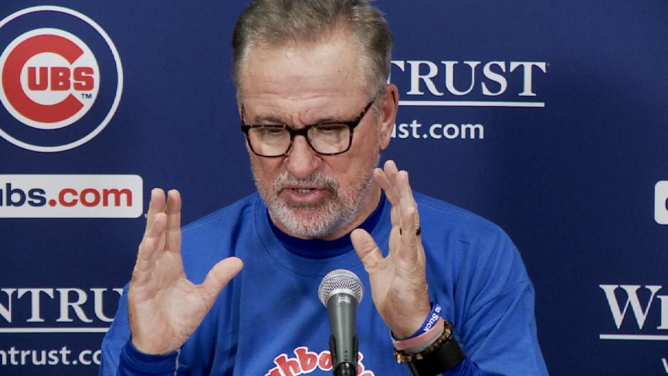 Maddon discusses the 2-0 loss