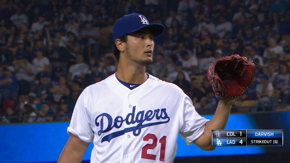 Darvish llega a 1,000 ponches