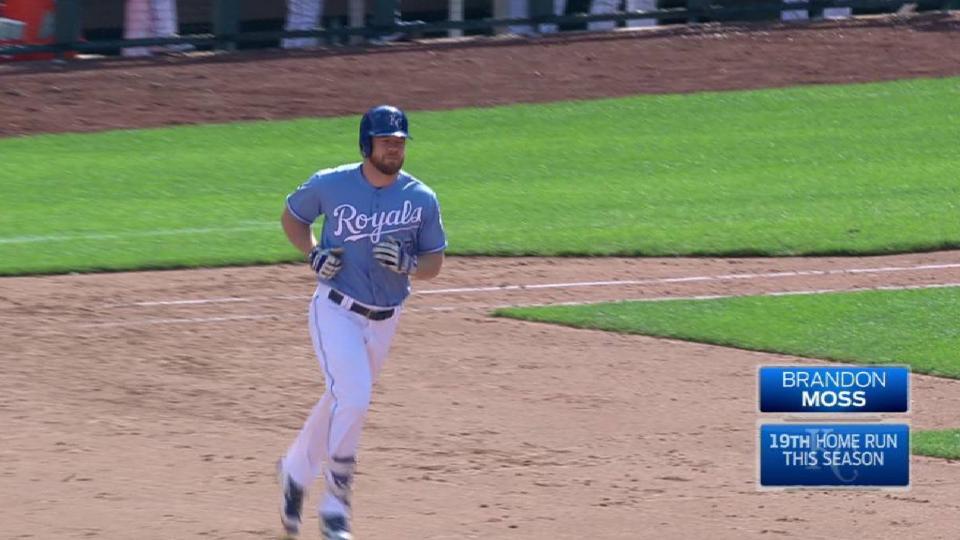 Moss' three-run homer