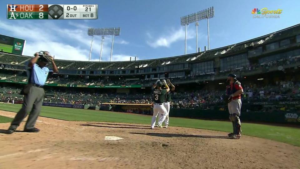 Powell's towering two-run homer