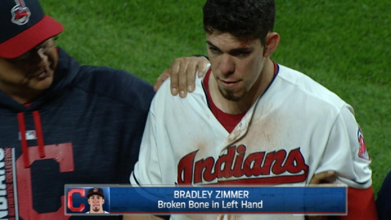 Bradley Zimmer to have surgery on left hand | MLB.com