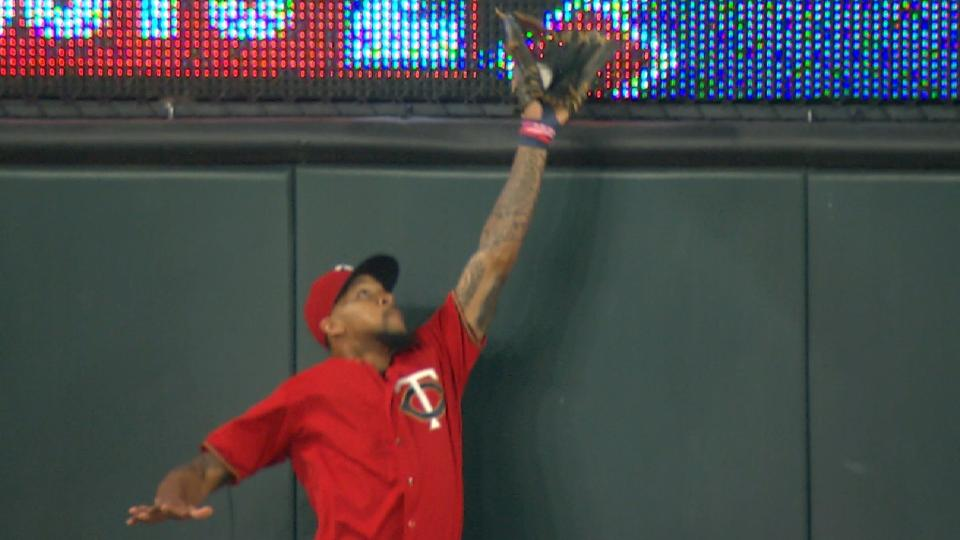 Buxton's superb leaping grab