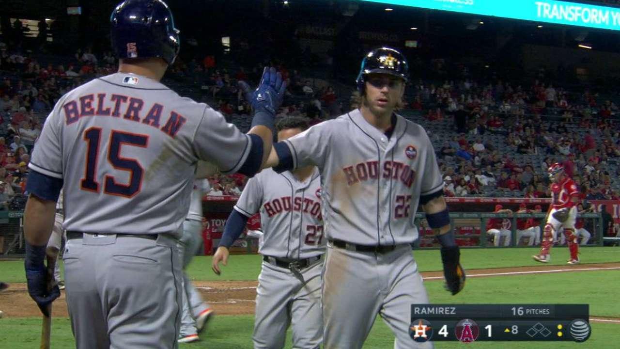 Astros le pegan a los Angelinos y reducen a 3 su número mágico