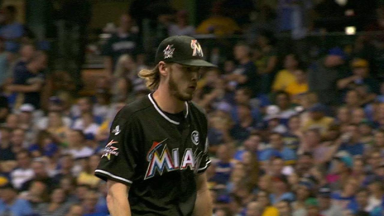 Marlins recall adam conley dillon peters miami marlins conley escapes a jam in the 5th fandeluxe Choice Image