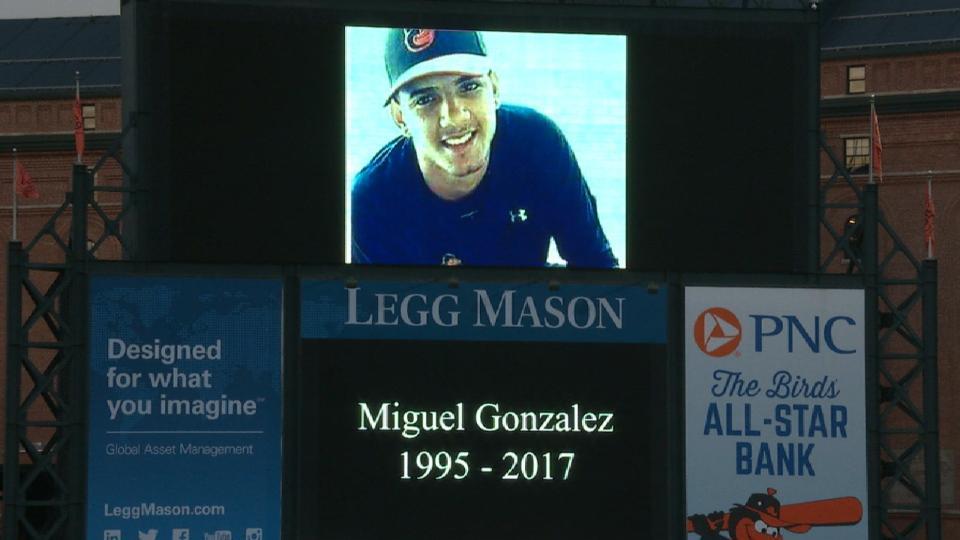 Orioles remember Miguel Gonzalez