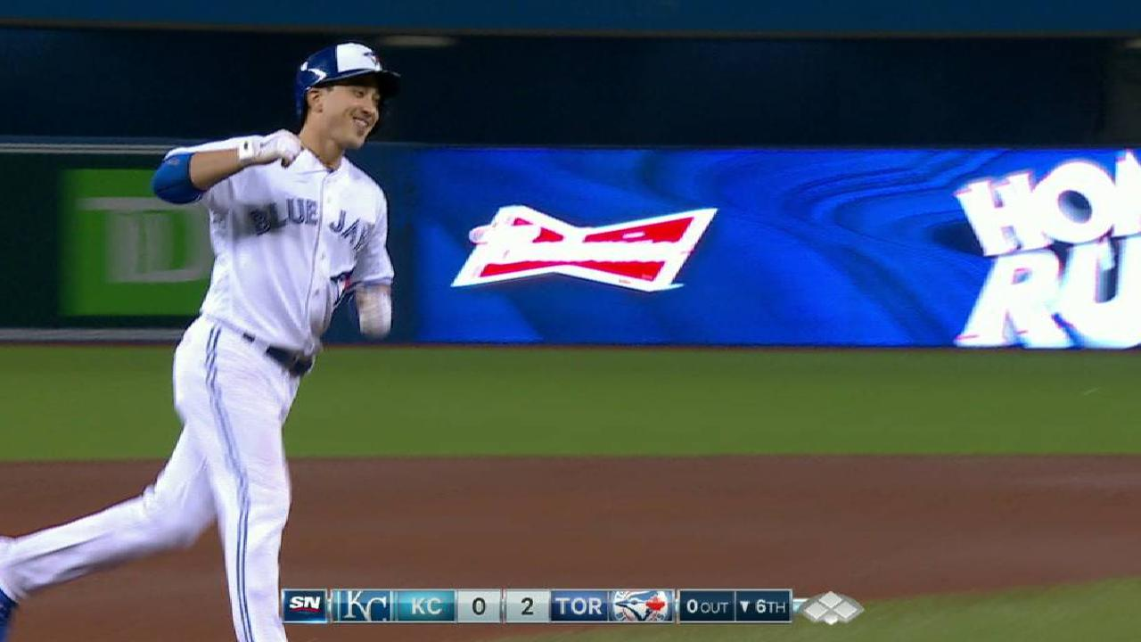 Barney's two-run home run