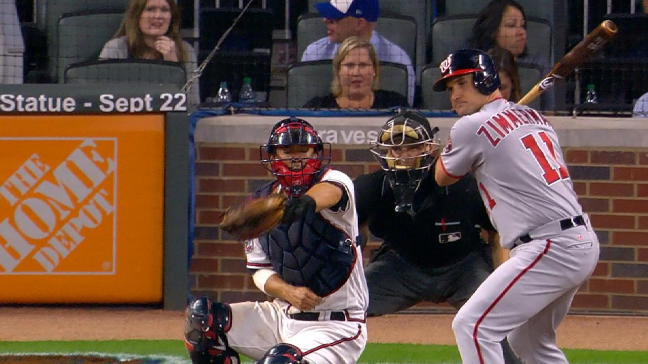 Braves catcher Kurt Suzuki tried to frame a pitch but shrouded it in ...