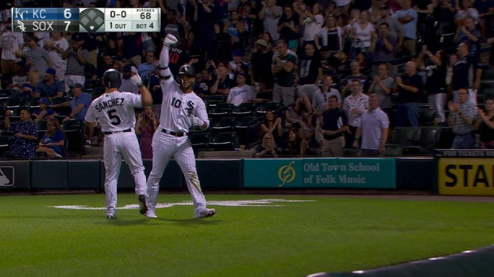 Moncada's two-run homer