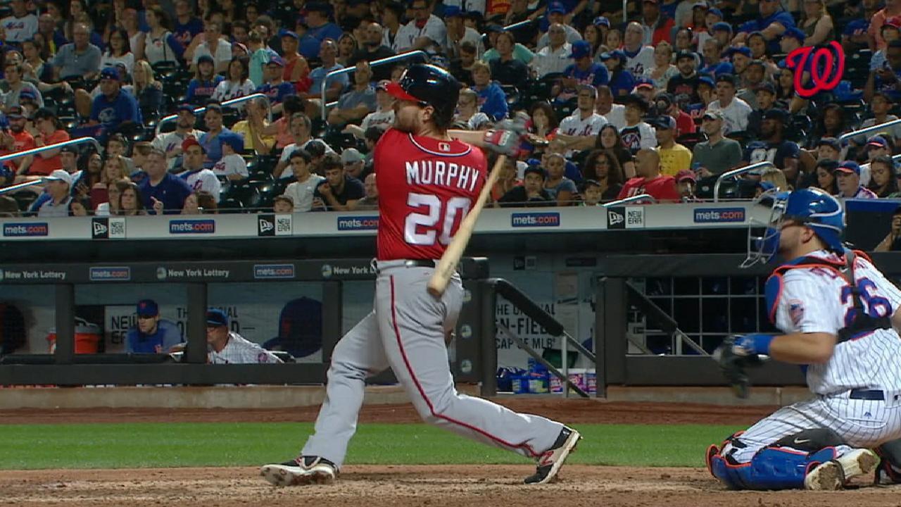 HR de Murphy en la 10ma decide triunfo de Nacionales vs. Mets
