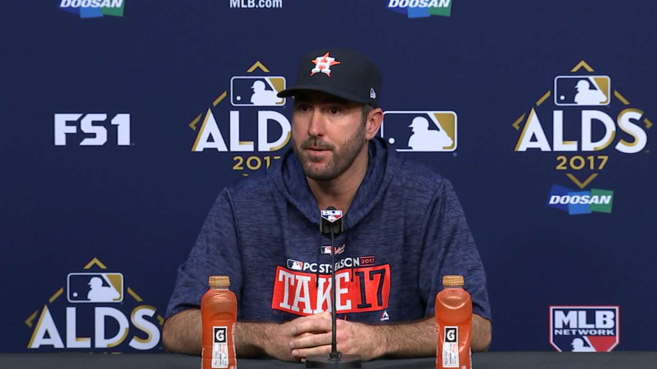 1291ba5fe31 Verlander ready for playoff action with Astros