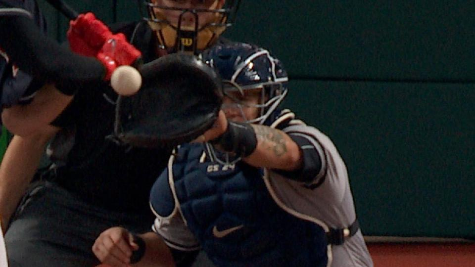 Yanks on Chisenhall's HBP