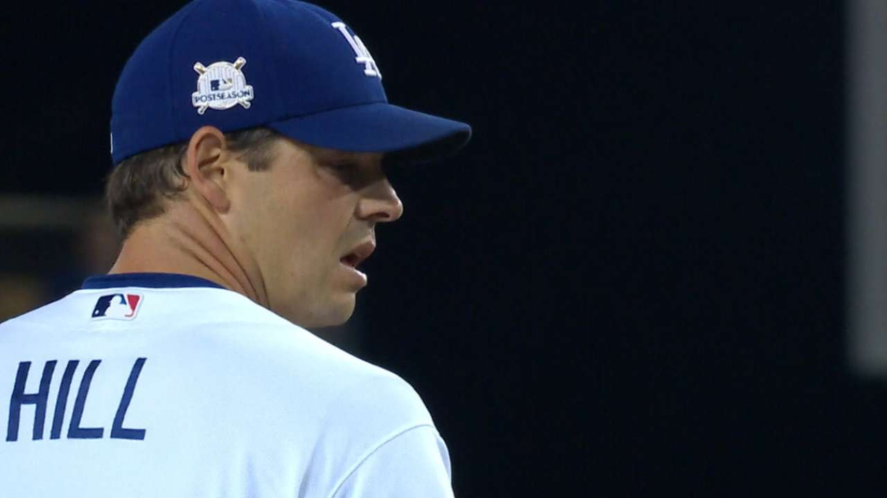 5dd446e7b3b Rich Hill gets rematch vs. Cubs in NLCS Game 2