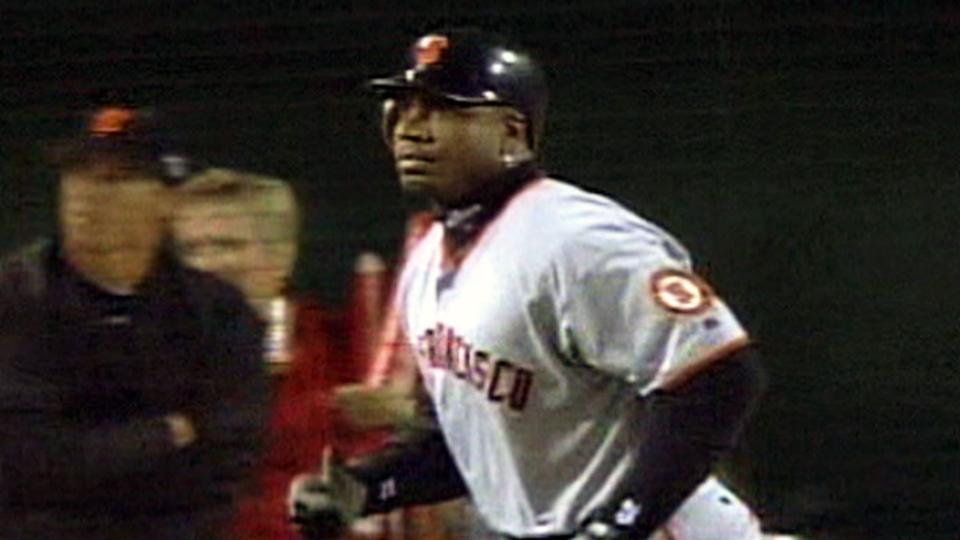 Bonds' fourth World Series homer
