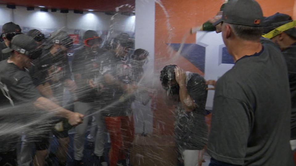 Altuve doused by teammates