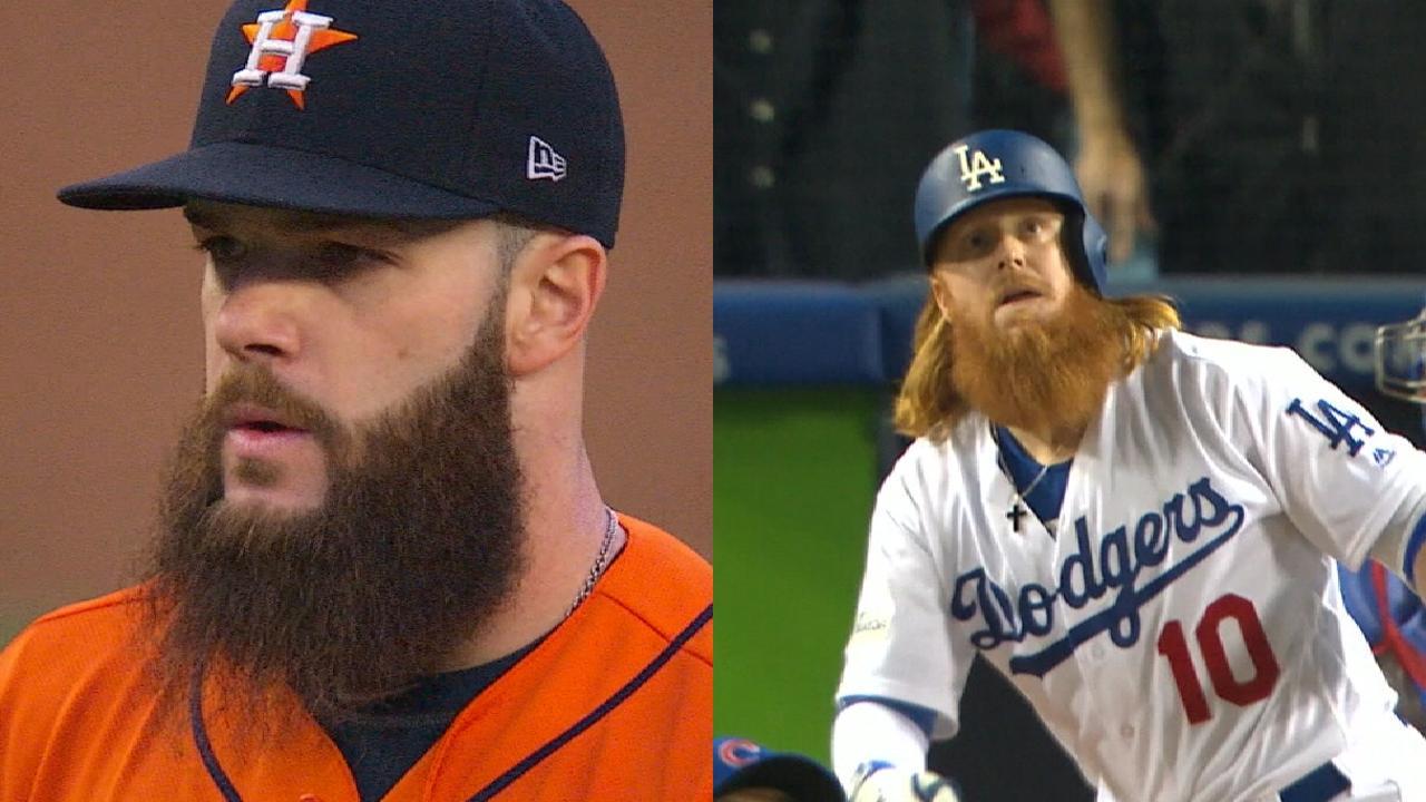 5c209fa7d Justin Turner compares beards with Dallas Keuchel | MLB.com