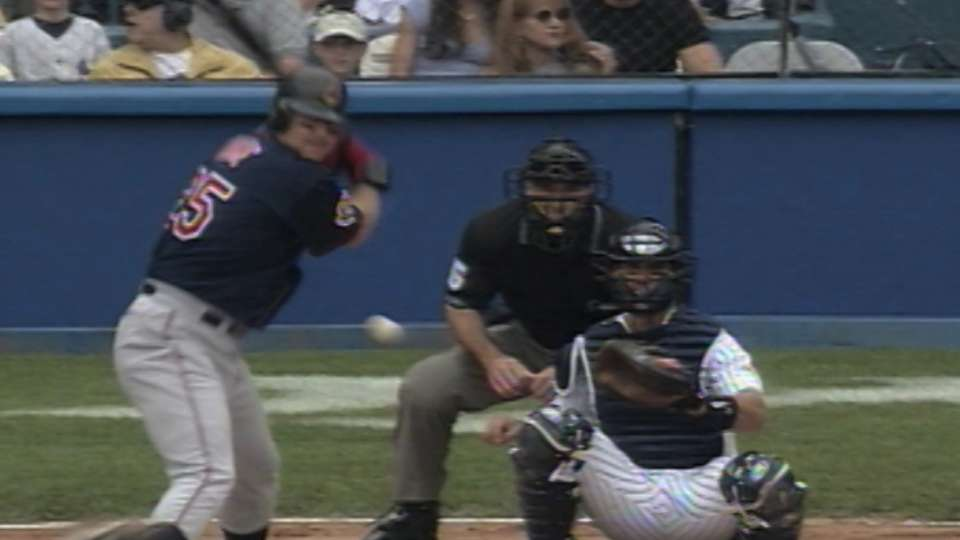 Thome homers twice off Clemens